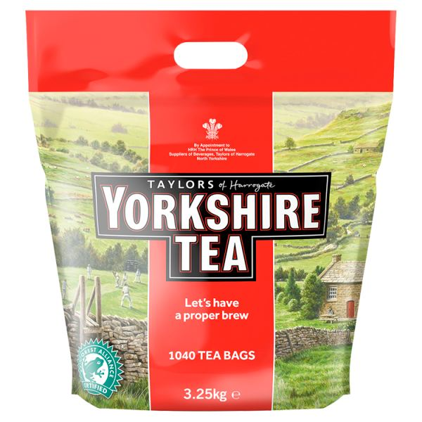 Taylors of Harrogate Yorkshire Tea 1040 Tea Bags - 3.25kg Bag